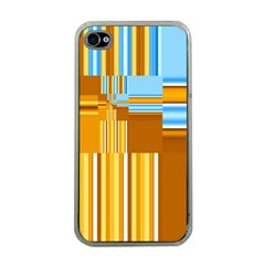 Endless Window Blue Gold Apple Iphone 4 Case (clear) by designworld65
