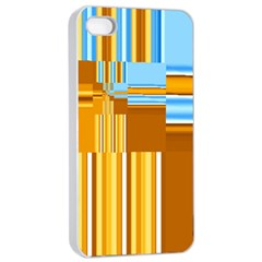 Endless Window Blue Gold Apple Iphone 4/4s Seamless Case (white) by designworld65