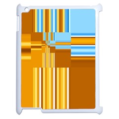 Endless Window Blue Gold Apple Ipad 2 Case (white) by designworld65