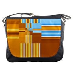Endless Window Blue Gold Messenger Bags by designworld65