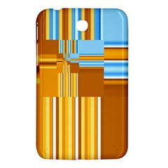 Endless Window Blue Gold Samsung Galaxy Tab 3 (7 ) P3200 Hardshell Case  by designworld65