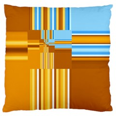 Endless Window Blue Gold Standard Flano Cushion Case (two Sides) by designworld65