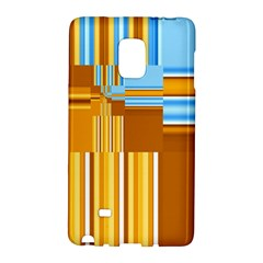 Endless Window Blue Gold Galaxy Note Edge by designworld65