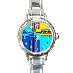 Colorful Endless Window Round Italian Charm Watch