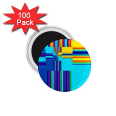 Colorful Endless Window 1 75  Magnets (100 Pack)  by designworld65