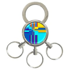 Colorful Endless Window 3 Ring Key Chains