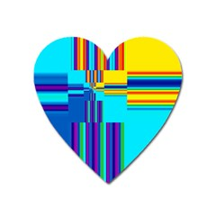 Colorful Endless Window Heart Magnet by designworld65