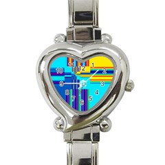 Colorful Endless Window Heart Italian Charm Watch