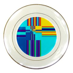 Colorful Endless Window Porcelain Plates by designworld65