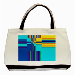 Colorful Endless Window Basic Tote Bag by designworld65