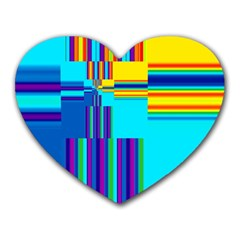 Colorful Endless Window Heart Mousepads by designworld65