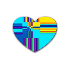 Colorful Endless Window Heart Coaster (4 Pack)