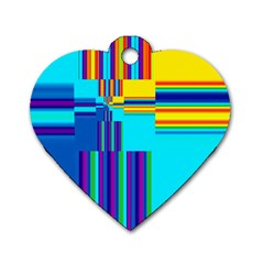 Colorful Endless Window Dog Tag Heart (one Side)