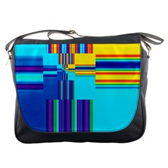 Colorful Endless Window Messenger Bags by designworld65