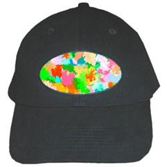Colorful Summer Splash Black Cap by designworld65