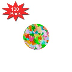 Colorful Summer Splash 1  Mini Buttons (100 Pack)  by designworld65