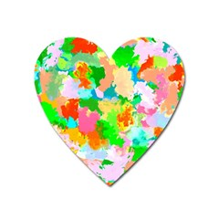 Colorful Summer Splash Heart Magnet by designworld65
