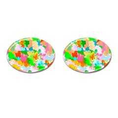 Colorful Summer Splash Cufflinks (oval) by designworld65
