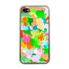 Colorful Summer Splash Apple Iphone 4 Case (clear) by designworld65