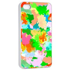 Colorful Summer Splash Apple Iphone 4/4s Seamless Case (white) by designworld65