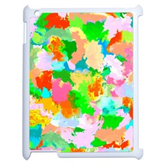 Colorful Summer Splash Apple Ipad 2 Case (white) by designworld65