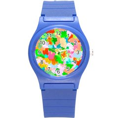 Colorful Summer Splash Round Plastic Sport Watch (s) by designworld65