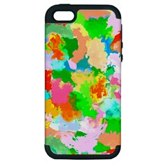 Colorful Summer Splash Apple Iphone 5 Hardshell Case (pc+silicone) by designworld65