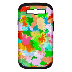 Colorful Summer Splash Samsung Galaxy S Iii Hardshell Case (pc+silicone) by designworld65