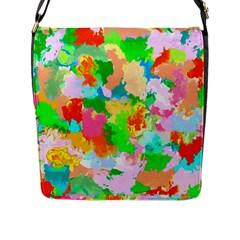 Colorful Summer Splash Flap Messenger Bag (l)  by designworld65