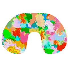 Colorful Summer Splash Travel Neck Pillows by designworld65
