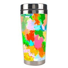 Colorful Summer Splash Stainless Steel Travel Tumblers by designworld65