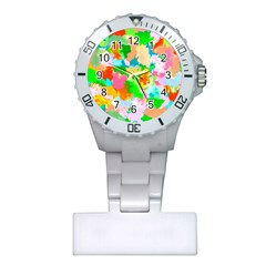 Colorful Summer Splash Plastic Nurses Watch by designworld65