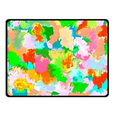Colorful Summer Splash Double Sided Fleece Blanket (small)  by designworld65