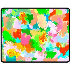 Colorful Summer Splash Double Sided Fleece Blanket (medium)  by designworld65