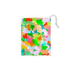Colorful Summer Splash Drawstring Pouches (xs)  by designworld65