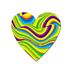 Summer Wave Colors Heart Magnet by designworld65