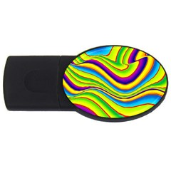 Summer Wave Colors Usb Flash Drive Oval (2 Gb) by designworld65