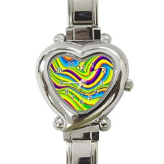 Summer Wave Colors Heart Italian Charm Watch by designworld65