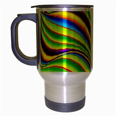 Summer Wave Colors Travel Mug (silver Gray) by designworld65