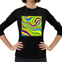 Summer Wave Colors Women s Long Sleeve Dark T Shirts by designworld65