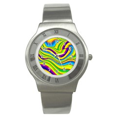Summer Wave Colors Stainless Steel Watch by designworld65
