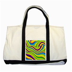 Summer Wave Colors Two Tone Tote Bag by designworld65