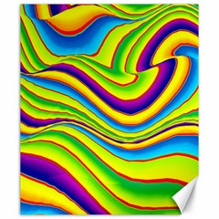 Summer Wave Colors Canvas 20  X 24   by designworld65