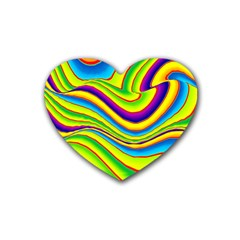 Summer Wave Colors Heart Coaster (4 Pack)  by designworld65