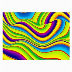 Summer Wave Colors Large Glasses Cloth by designworld65