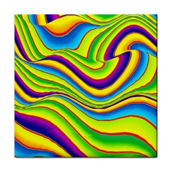 Summer Wave Colors Face Towel by designworld65