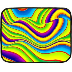 Summer Wave Colors Double Sided Fleece Blanket (mini)  by designworld65