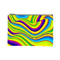 Summer Wave Colors Cosmetic Bag (large)  by designworld65