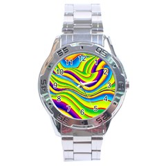 Summer Wave Colors Stainless Steel Analogue Watch by designworld65