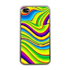 Summer Wave Colors Apple Iphone 4 Case (clear) by designworld65